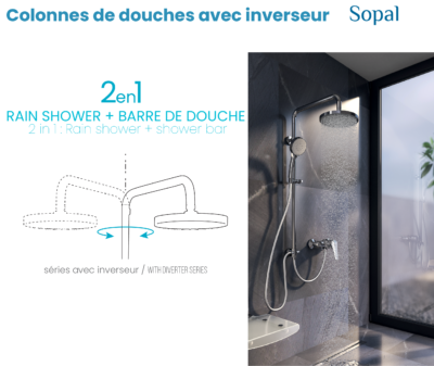 Colonnes de douches avec inverseur